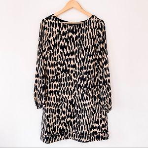 LOFT | NWT Animal Print Long Sleeve Dress Sz 10